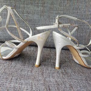 Stuart Weitzman Shoes - STUART WEITZMAN Crystal Embellished Sandals Heels